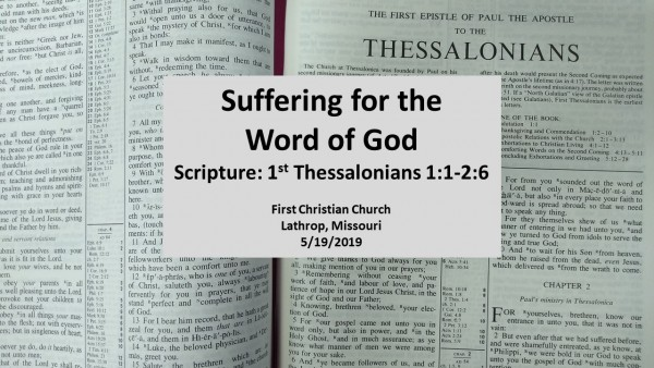 Suffering for the Word of God