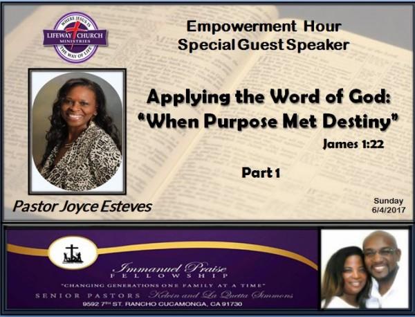 applying-the-word-of-god-when-purpose-met-destinyApplying the Word of God: When Purpose Met Destiny