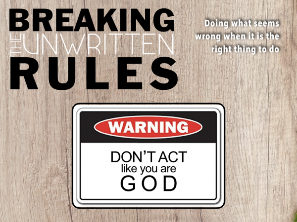 NHCC Sermons & Teaching: Don't Act Like You Are God - Listen