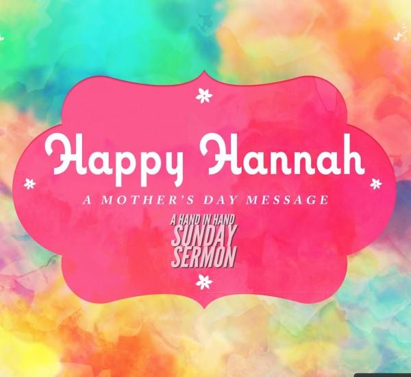 SERMON: Happy Hannah