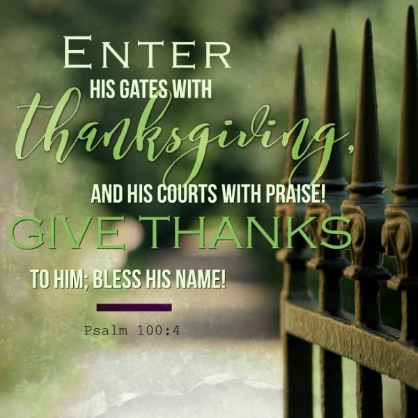 Thanksgiving Living Psalms 100