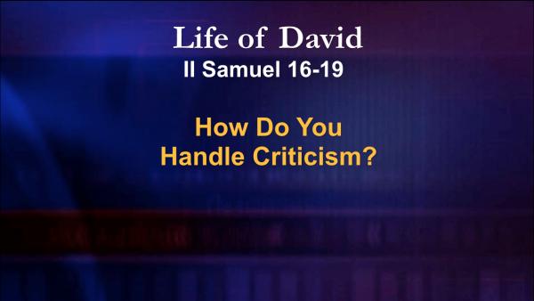 How Do You Handle Criticism?