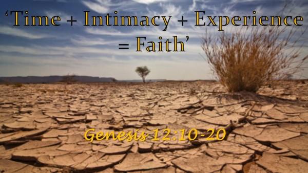 'Time +Intimacy+Experience=Faith'