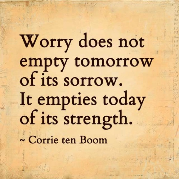 Living in Triumph over Worry 2