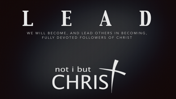 not i but CHRIST - LEAD