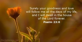 Psalms 23:6 My Assurance