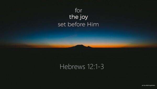 for-the-joy-set-before-himFor the Joy Set Before Him