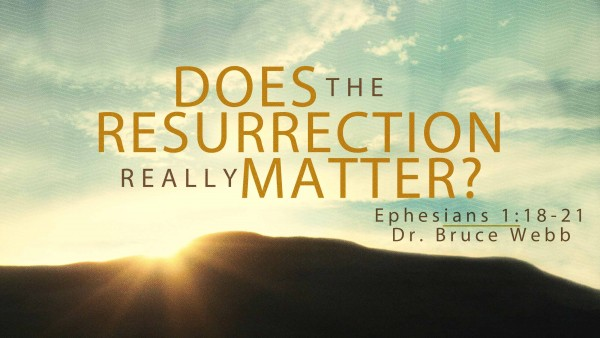 Does The Resurrection Really Matter?