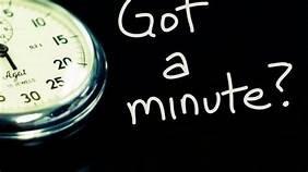 460 Got a Minute 09 Thursday Week 2