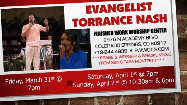 Evangelist Torrance Nash - Sunday Evening