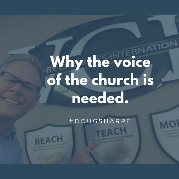 Why the voice of the Church is needed-April 8th 2018