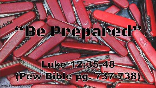 be-preparedBe Prepared