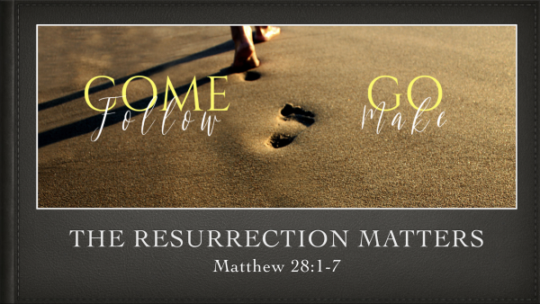 The Resurrection Matters