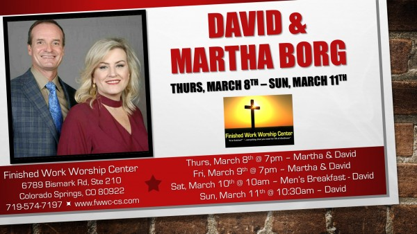 03-08-18 Special Service with David & Martha Borg