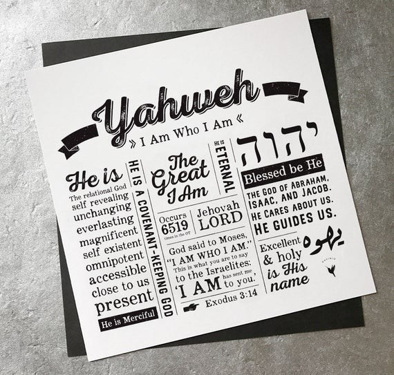 There's a Name for That- Jehovah The Relational God (10-13-19)