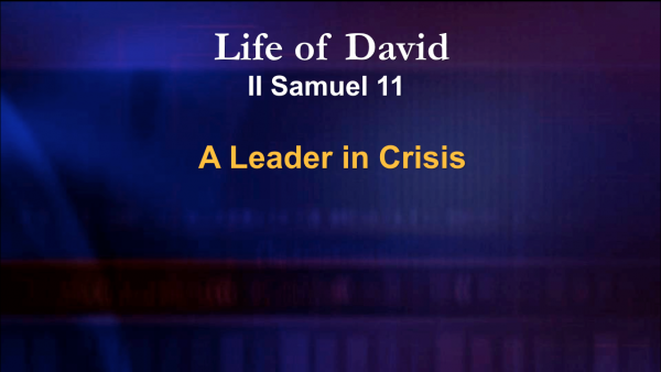 A Leader In Crisis