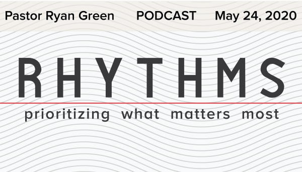 May 24 2020 ~ Rhythms: Prioritizing What Matters Most Part3