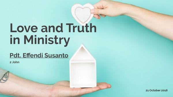 Love and Truth in Ministry