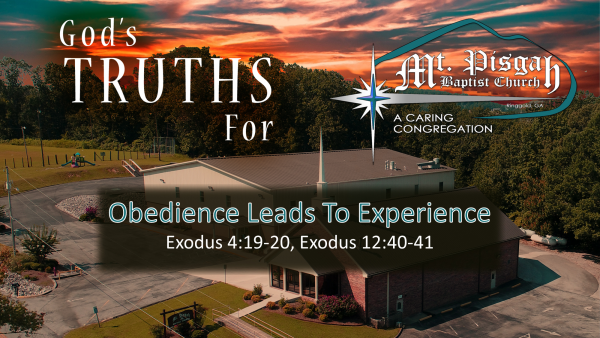 Obedience Leads to Experience