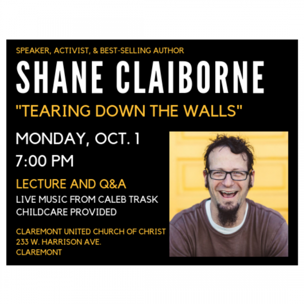 "Shane Claiborne: ""Tearing Down the Walls"""
