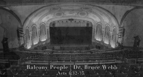 Balcony People | Dr. Bruce Webb