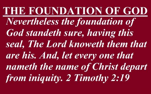 THE FOUNDATION OF GOD