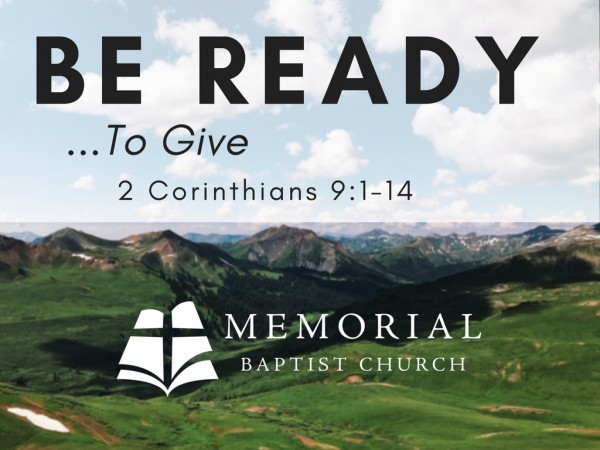 Be Ready to Give