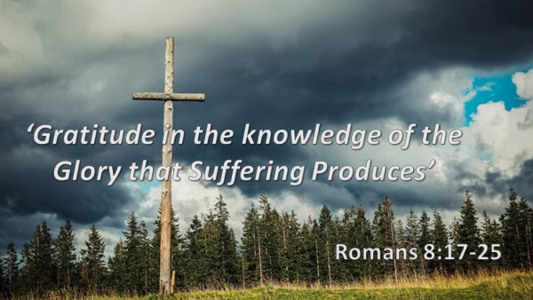 Gratitude in the Knowledge of the Glory that Suffering Produces