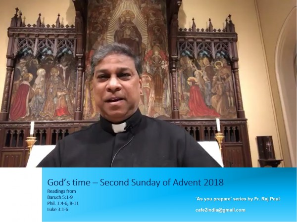 cafe-ii-sunday-liturgy-as-you-prepare-series-by-fr-raj-paul-advent-2018-second-sundayCafÉ II - Sunday Liturgy - As You Prepare series by Fr Raj Paul Advent 2018 Second Sunday