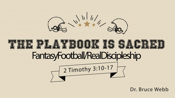 The Playbook Is Sacred