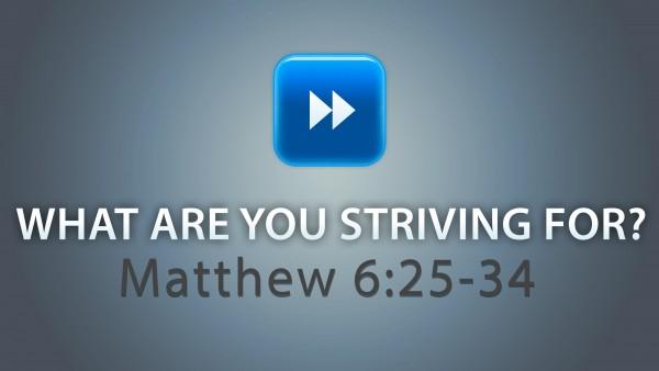 what-are-you-striving-forWhat Are You Striving For ?