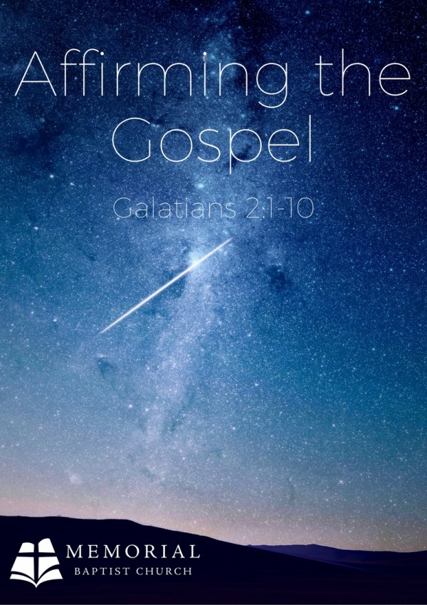 Affirming the Gospel