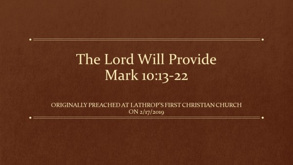 the-lord-will-provideThe Lord Will Provide