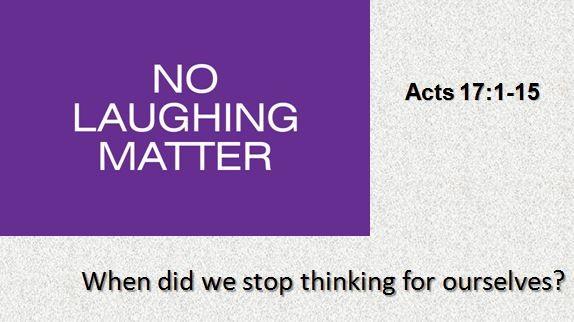 no-laughing-matterNo Laughing Matter