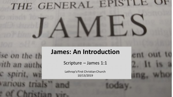 sermon-1-james-an-introductionSermon 1 - James, an Introduction