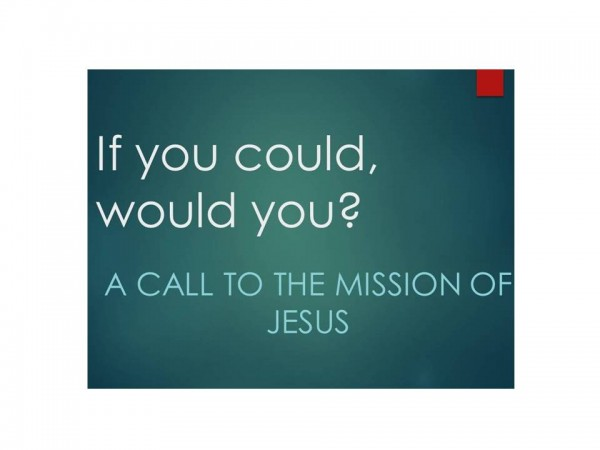 If You Could, Would You -Graceland MInistries Update