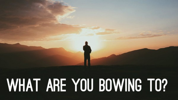 What are you bowing to?