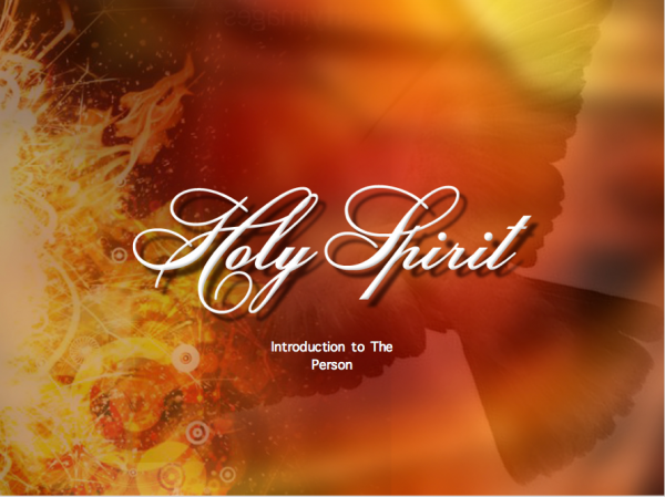The Holy Spirit Session 1