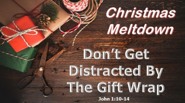 Christmas Meltdown: Distracted gift wrap