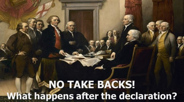 No Take Backs! What happens after the declaration?