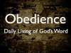 It All Comes Down To Obedience!